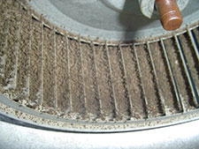 heater repair furnace repair central gas furnace repair. Furnace fanmotors with dirty blower wheels do not move enough air for home air conditioners to operate properly