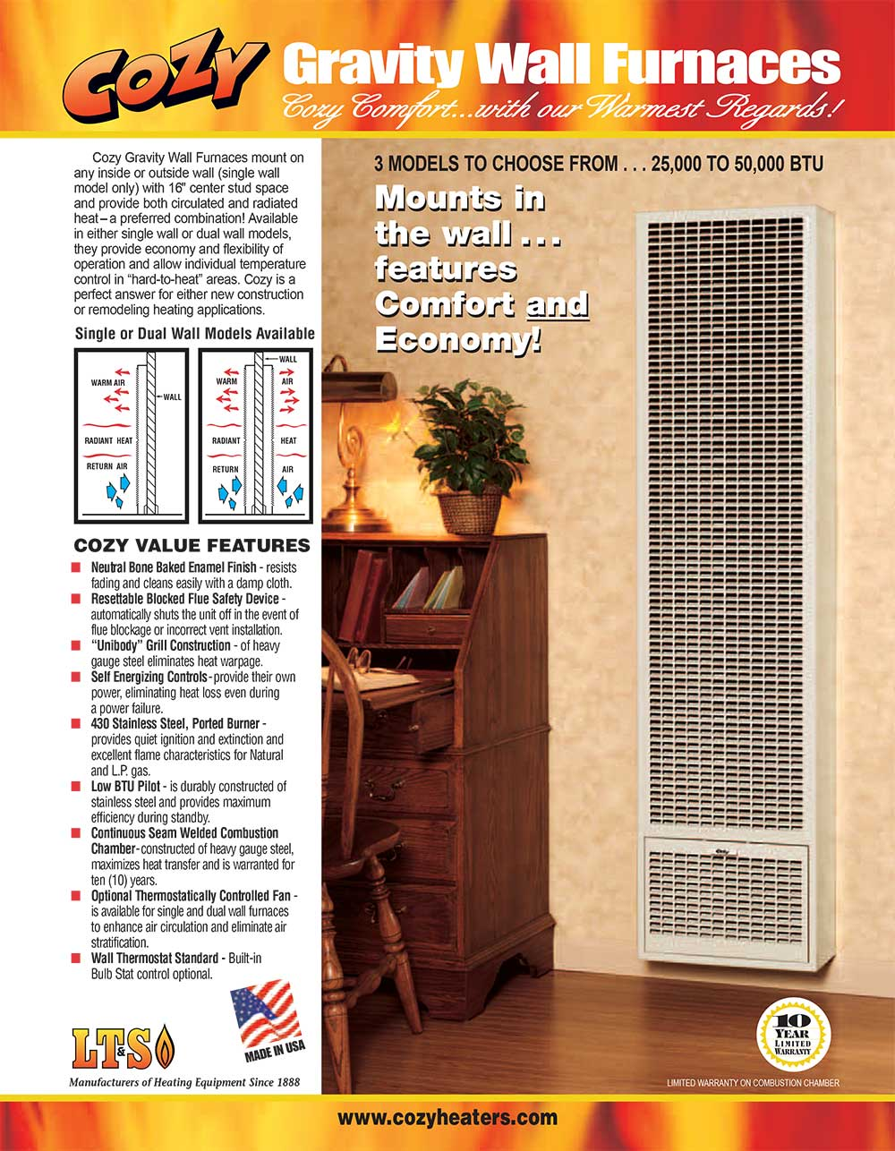 Cozy wall furnace wall heater installation prices